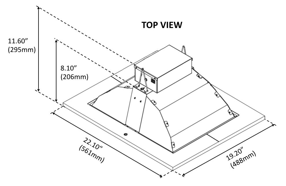 BLI 315W CDL Agro Dimensional Drawing