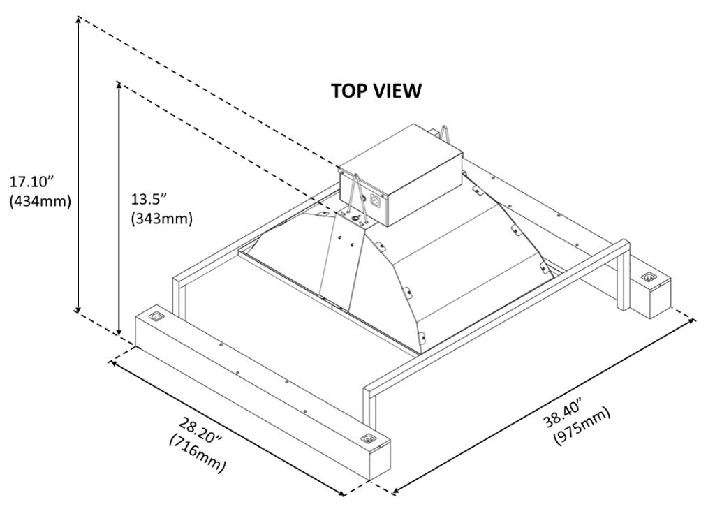 BLI 315W LED FUSION460 Dimensional Drawing