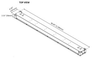 BLI PerfectPar 165W Dimensional Drawing