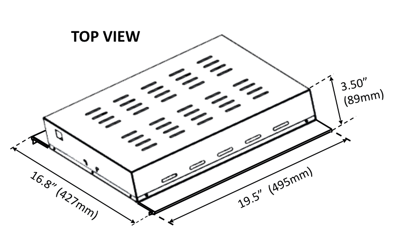 BLI Slimline 315W CDL+LED Agro Dimensional Drawing